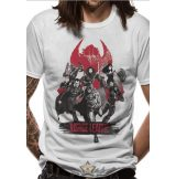 JUSTICE LEAGUE MOVIE -  FIGHT.  T-Shirt WHITE.  filmes  póló