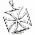 IRON CROSS - Maltese Iron Cross Titanium Stainless.   nyaklánc, medál