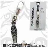 Zippereez Zipper Pull - Coffin with Skeleton. kapucnis felsőhöz cipzár lehúzó