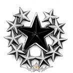 BLACK STAR.  Belt Buckle.  övcsat