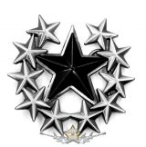 BLACK STAR.  Belt Buckle.  övcsat