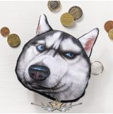 3D Dog coin bag model 2.  3d hatás.  pénztárca, apró pénz tartó