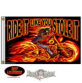 Street Rider Skull Flag. FGA1026.  zászló