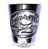 ZORALL - 2002-2017. 15év. fém feles pohár, óncÍmkével