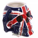 Angol zászlós * UK FLAG. Koponyás - Skull  bögre