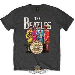 The Beatles - Sgt Pepper Men. Grey.  zenekaros  póló.