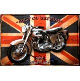 BIKER - BSA - BEST OF BRITISH.  20X30.cm. fém tábla kép