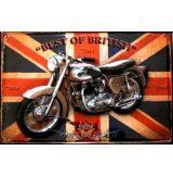 BIKER - BSA - BEST OF BRITISH.  20X30.cm. fém tábla kép