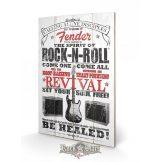 Fender - The Spirit Of Rock N' Roll. 40x59.cm. fa táblakép