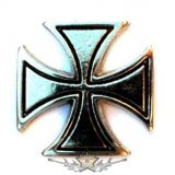 IRON CROSS - CHROM.  BE. fém  jelvény
