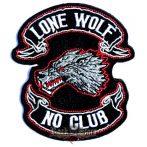 LONE WOLF - NO CLUB   felvarró