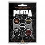 Pantera -  '101 Proof' Button Badge Pack.   jelvényszett