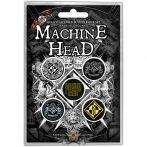 Machine Head - Button Badge Pack.  Crest.   jelvényszett