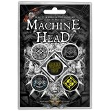 Machine Head - Button Badge Pack.  Crest.   jelvényszett