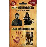 The Walking Dead - Sticker Set. Vinyl stickers. matrica szett