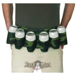 6 Pack - Sörös doboz tartó öv - Beer Belt military camouflage. sör tartó öv