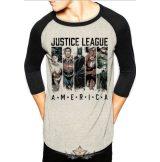 JUSTICE LEAGUE - AMERICA.  3-4 Baseball Shirt. Raglán.  filmes  póló