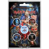 IRON MAIDEN - ALBUMS. Button Badge Pack.  jelvényszett