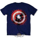 Marvel Comics Men's Tee - Captain America - Splat Shield .  filmes, movie  póló