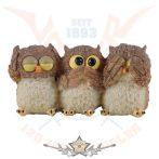 Funny owls no hearing * Vicces baglyok -  nem hall, nem lát.nem beszél.  fantasy figura
