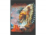 INDIAN - Sitting bull pray TEXTILE POSTER. zászló