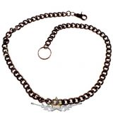 Nadráglánc, pénztárcalánc *  Classic  lánc, vastag. 12.mm.széles.85.cm. dark.fekete -  Chrom. motoros oldal lánc