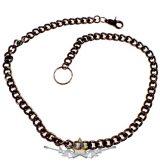 Nadráglánc, pénztárcalánc *  Classic  lánc, vastag. 12.mm.széles.85.cm. dark.fekete. JVP.  Chrom. motoros oldal lánc