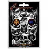 Motorhead Button Badge Pack England.  jelvényszett