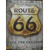 ROUTE 66 - FEEL THE FREEDOM. 30x40.cm. fém tábla kép