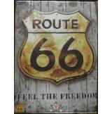 ROUTE 66 - FEEL THE FREEDOM. 30x40.cm. fém tábla kép