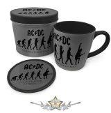 AC/DC – The Evolution of Rock Mug & Coaster In Tin. fémdobozos bögre