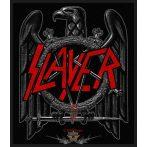 Slayer -  'Black Eagle' Woven Patch.    import zenekaros felvarró