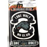 Hot Leathers - LONE WOLF. Transparent Decals. Vinyl stickers. matrica szett
