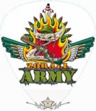 ZORALL - ARMY LOGO.  pengető nyaklánc