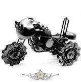 Motor design. 3 kerék.. motorláncos kerekek.   fém motoros dísztárgy