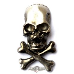 Skull kitűző,  BE. fém motoros jelvény
