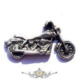 BIKER . KGJ.  nagyméretű fém motoros jelvény