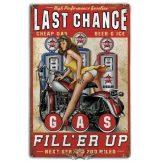 Last Chance Gas -  Metal Sign.  20X30.cm. fém tábla kép