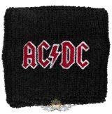 AC/DC - LOGO.   Hímzett, frottír csuklószorító