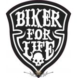 BIKER FOR LIFE.   felvarró.