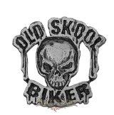 Old Skool Biker kitűző,  BE. fém motoros jelvény