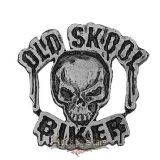 Old Skool Biker kitűző,  fém motoros jelvény