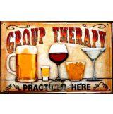 BEER - GROUP THERAPY.  20X30.cm. fém tábla kép
