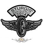 Sturgis Motorcycle Rally - Flying Wheel Pin.  USA import motoros fém  jelvény