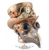 Steampunk - Skull Plaque. orvos, pilóta szemüveggel, sárgaréz színű. VO.839-2610.     koponya figura