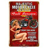 Majestic Motorcycle Repair - Vintage Metal Sign.  20X30.cm. fém tábla kép