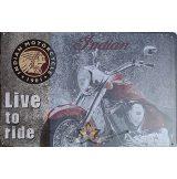 INDIAN MOTORCYCLE 1901 - LIVE TO RIDE. 30x40.cm. fém tábla kép