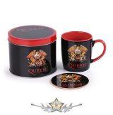 Queen – Logo Mug & Coaster In Tin.   fémdobozos bögre