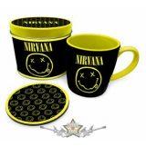 Nirvana – Smiley Mug & Coaster In Tin. fémdobozos bögre