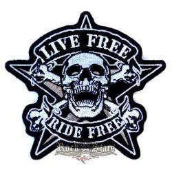 LIVE FREE - RIDE FREE  felvarró